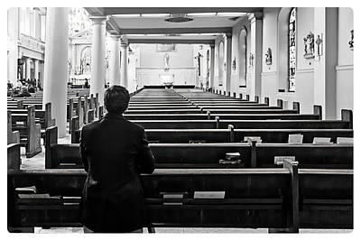 Photograph - Church Prayer by Carlos Diaz