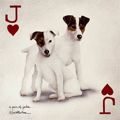 Painting - A Pair Of Jacks... by Will Bullas