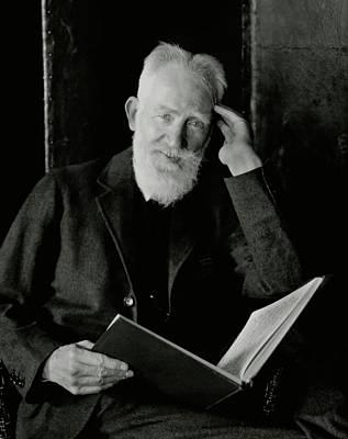 A Portrait George Bernard Shaw Print by Nicholas Muray
