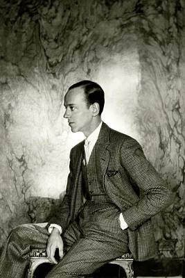 Photograph - A Portrait Of Fred Astaire Sitting by Cecil Beaton