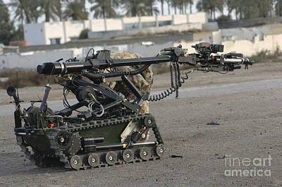 Improvised Explosive Device Photograph - A Remote Controlled Vehicle Used by Andrew Chittock