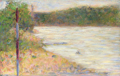 Painting - A River Bank by Georges Seurat