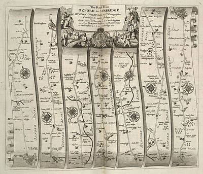 Britannia Photograph - A Route Map by British Library