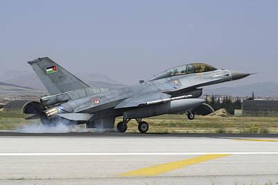Jordanian Photograph - A Royal Jordanian Air Force F-16bm by Daniele Faccioli
