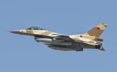 Moroccan Photograph - A Royal Moroccan Air Force F-16 Block by Giovanni Colla