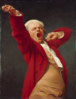 Yawning Painting - A Self-portrait By Joseph Ducreux by Celestial Images