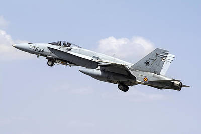 A Spanish Air Force Ef-18m Hornet Art Print
