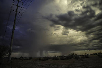 Photograph - A Stormy Sunset Over Phoenix Az.  by Israel Marino