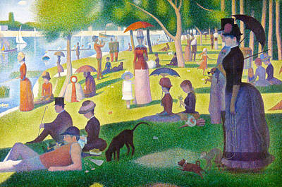 Sunday On La Grande Jatte Digital Art - A Sunday On La Grande Jatte by Georges Seurat