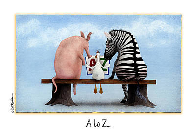 Zebra Painting - A To Z... by Will Bullas