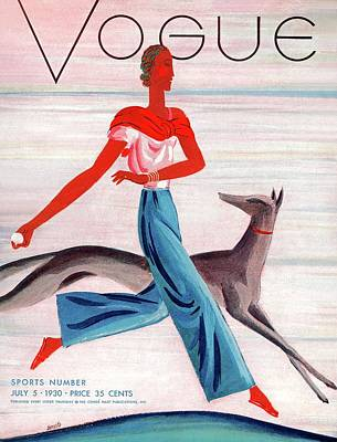 Fashion Illustration Wall Art - Photograph - A Vintage Vogue Magazine Cover Of An African by Eduardo Garcia Benito