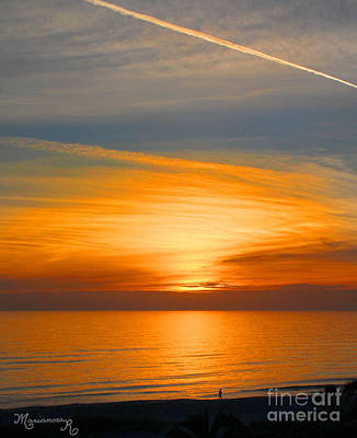 Photograph - A Walk At Sunset by Mariarosa Rockefeller