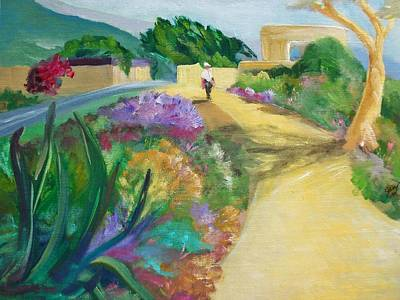 Laguna Beach Painting - A Walk In The Park by Jan Moore