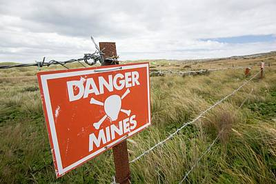 A Warning Sign About Mines Art Print