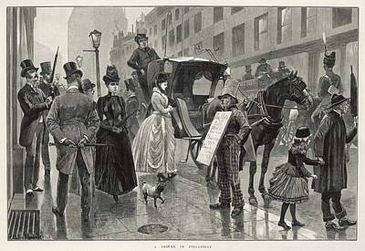 Grate Drawing - A Wet Day In Piccadilly, Central by  Illustrated London News Ltd/Mar