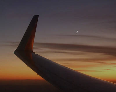 Photograph - A Wing And A Moon   by Dwight Theall