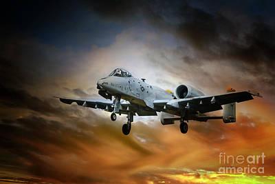 A-10 Digital Art - A10 Thunderbolt II by J Biggadike