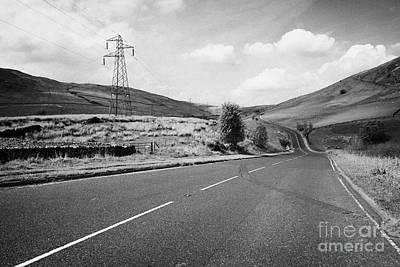 Carriageway Photograph - A6 Road Through The Borrowdale Valley In Cumbria Uk by Joe Fox