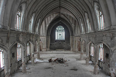 Photograph - Abandoned Church In Detroit  by John McGraw