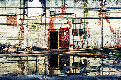 Abandoned Factory Interior Print by HD Connelly