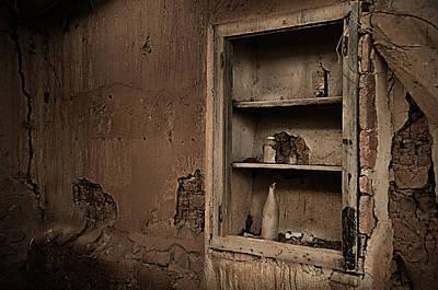 Abandoned Kitchen Cabinet Art Print