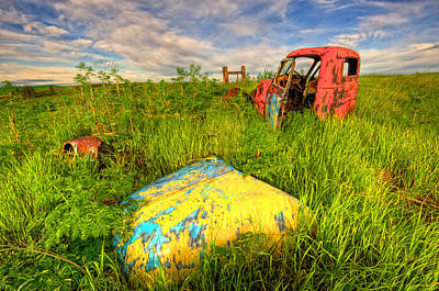 Abandoned Rusting Truck Art Print
