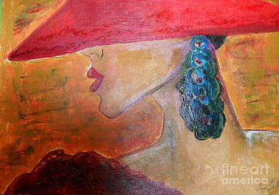 Art Print featuring the painting Abby Marion by Iris Gelbart