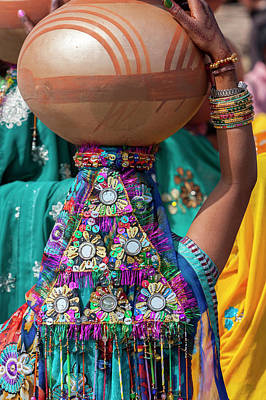 Sequin Photograph - Abhaneri, Rajasthan, India by Charles O. Cecil