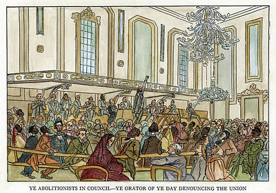 Abolition Cartoon, 1859 Art Print