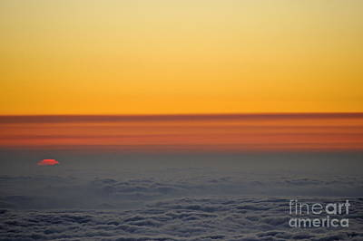 Above Cloudscape At Sunset Art Print by Sami Sarkis