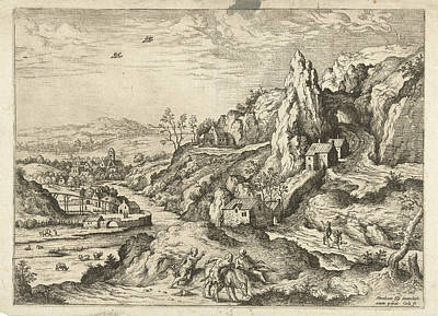 Abraham And Isaac On The Road To The Place Of Sacrifice Print by Hieronymus Cock And Matthys Cock