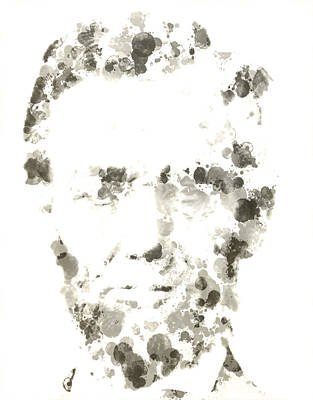 Lincoln Assassination Digital Art - Abraham Lincoln Paint Drops by Brian Reaves