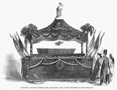 Abraham Lincoln's Funeral Art Print by Granger
