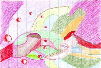 Drawing - Abstract 3 by Rod Ismay