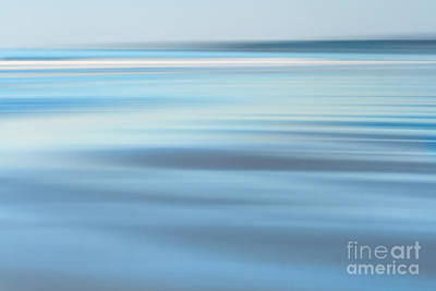 Abstract Beach Landscape Photograph - Abstract Blue Beach  by Katherine Gendreau