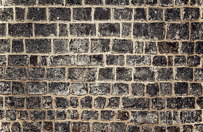 Photograph - Abstract Brick Background by Anna Om
