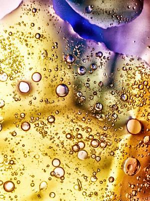 Abstract Bubbles Art Print