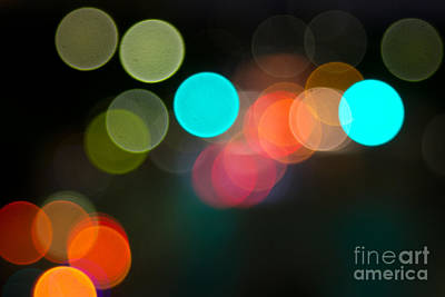 Photograph - Abstract Colorful Round Bokeh Lights by Beverly Claire Kaiya