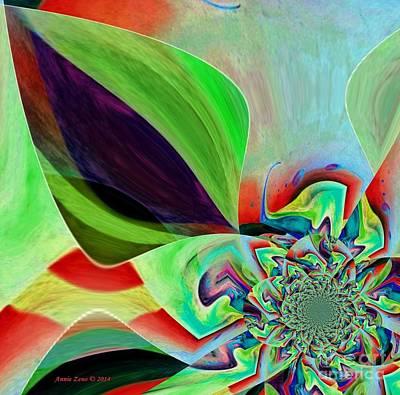 Digital Art - Abstract Flower by Annie Zeno
