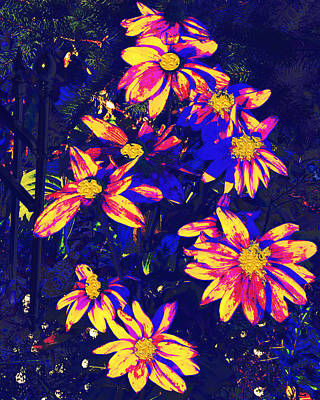 Love Park Mixed Media - Abstract Flower Floral Photography And Digital Painting Combination Mixed Media By Navinjoshi        by Navin Joshi