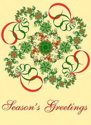 Digital Art - Abstract Holiday Card by Sandy Keeton
