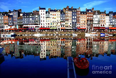 Photograph - Abstract - Honfleur Artist Village France by Jacqueline M Lewis