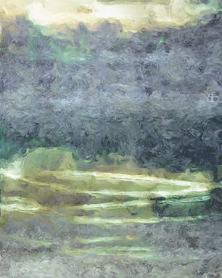 Champagne Painting - Abstract Landscape I by Lee Ann Asch