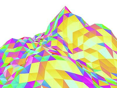 Vertex Photograph - Abstract Landscape Of Polygons by Pasieka