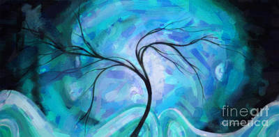 Abstract Landscape Painting Digital Texture Art By Megan Duncanson Art Print by Megan Duncanson