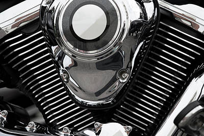 Abstract Motorcycle Engine Art Print by Andrew Dernie