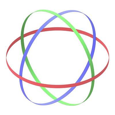 Abstract Orbit Circles Art Print