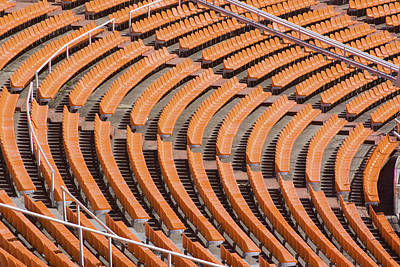 Abstract Pattern - Rows Of The Stadium's Seats Art Print