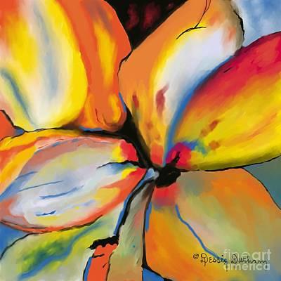 Wrap Digital Art - Abstract Petals by Dessie Durham