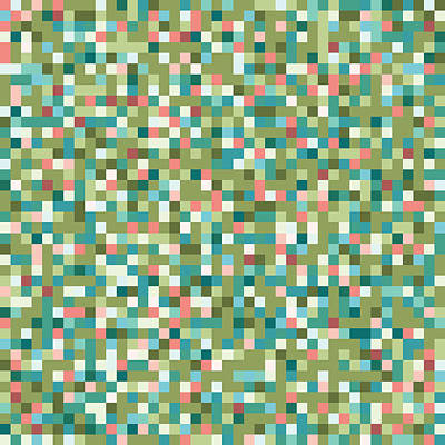 Digital Art - Abstract Pixels by Mike Taylor